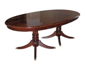 Langland, Klassische ausziehbarer Tisch, Mahagoni furniert