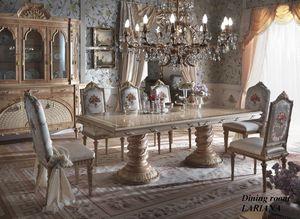 Lariana Tisch rechteckig, Prächtiger Esstisch mit eingelegter Platte