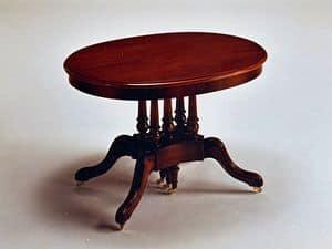 Marwell, Ausziehbaren Tisch, oval, klassisch, Wohnbereich