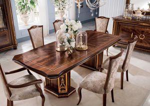 Modigliani rechteckiger Tisch, Esstisch im Empire-Stil