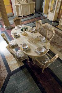Opera ovaler Tisch, Ovaler Esstisch im klassischen Stil