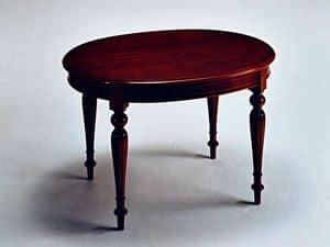 Scott, Ausziehbaren Tisch, klassisch luxuriösen Stil, oval