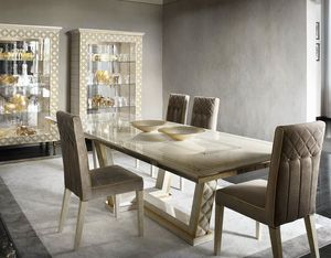 SIPARIO Tiche, Rechteckiger Holztisch für klassische Esszimmer