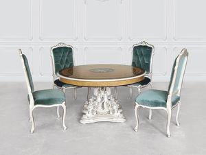Tabelle 1425, Klassischer Luxustisch mit Perlmutt-Basis
