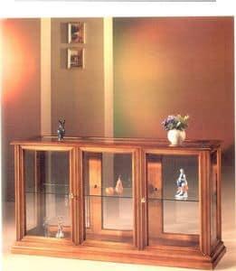 2060 SHOWCASE, Schrank horizontale Anzeige aus Holz und Glas, im klassischen Stil