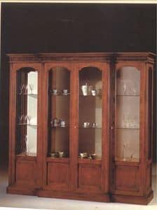 2310 SHOWCASE, Vitrine mit 4 Glastüren, für den klassischen Stil Wohnzimmer