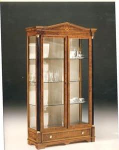 2480 SHOWCASE, Holz Vitrine mit 2 Glastüren, klassischen Stil