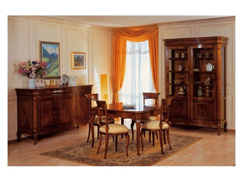 Art. 903 display cabinet '800 Francese, Eleganter Luxus Vitrine, zum Schmuckgeschäft