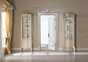 Chippendale Vitrine 1 Tür lackiert, Klassisches Schaufenster mit kleinen Abmessungen