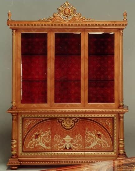 F500 Display cabinet, Klassischen Stil Vitrine, handgeschnitzte Holz