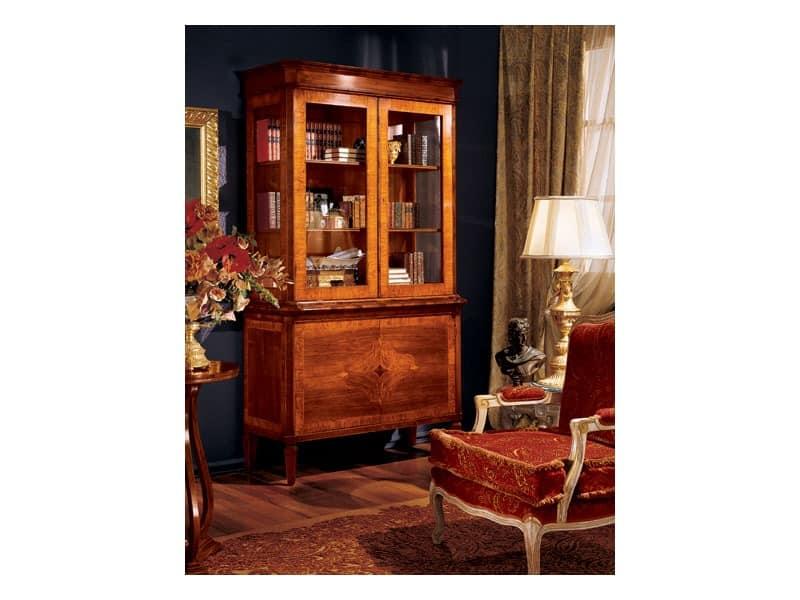 Maggiolini cabinet 744, Luxus klassische Vitrine