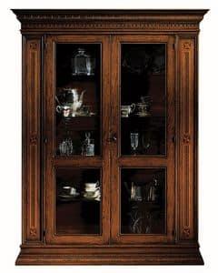 Portoferraio ME.0104.A, Schaufenster mit 2 Türen, Glasböden, im klassischen Stil
