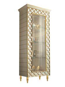 SIPARIO Vitrine 1, Klassische Luxusvitrine mit dekorativen Rauten