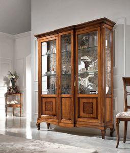 Vitrine 2 Türen Inlay, Schaufenster im klassischen Stil