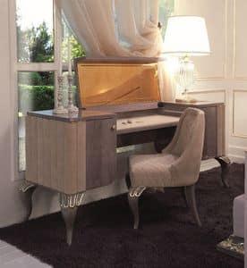 Art. 113, Toilette Schreibtisch mit Seiten Schubladen und Spiegel abklappbar