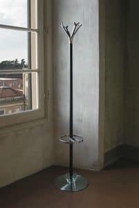 Battista auf Stahlbasis, Kleiderbügel aus lackiertem Stahl, erhältlich in verschiedenen Farben