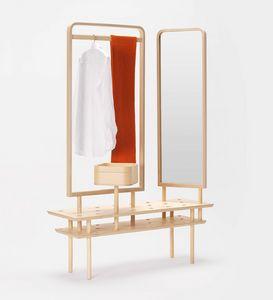 Etta wardrobe, Kommode Kleiderbügel, mit Spiegel