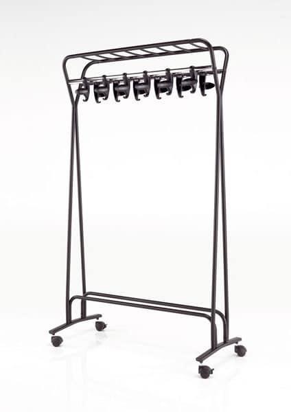 Hook stander, Hanger auf Rädern, lackiertem Stahl