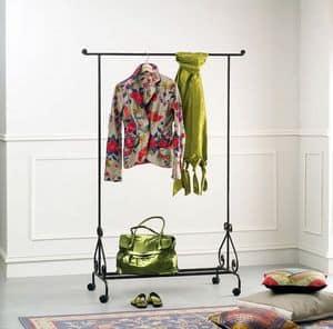 Stander, Garderobenständer auf Rädern, für Schlafzimmer und Eintritt