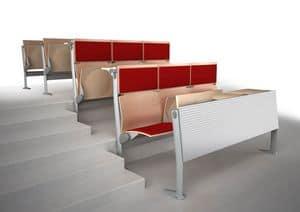 EVOLUTION, System von Stühlen und Tischen, mit schallabsorbierenden Platten, für Klassenzimmer und Konferenzräume