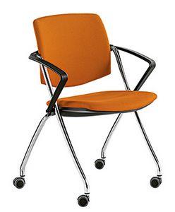 Q-Go IM, Gepolsterter Konferenzstuhl mit Rädern