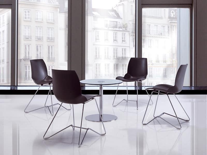 Kaleidos 4, Konferenzstuhl aus Metall für Tagungsräume
