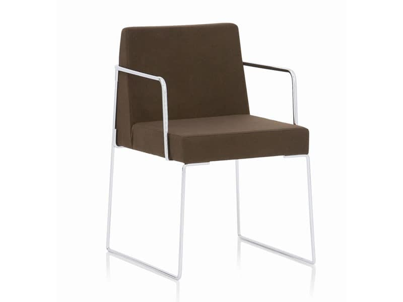Kalida 602C , Stuhl mit Kufen, Flammschutzmittel Beschichtung, für Treffen