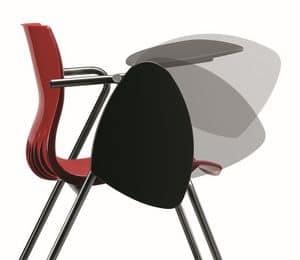 WEBBY 332 TDX, Stuhl mit Metallgestell, Polymerhülle, Schreibplatte