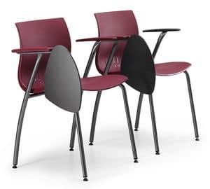 WEBBY 338 TDX, Konferenzstuhl aus Metall, mit Kunststoff-Schale