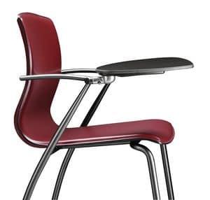WEBTOP 385 TDX, Metallstuhl mit Lederschalenverkleidung