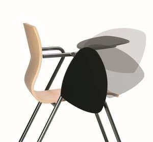 WEBWOOD 352 TDX, Metallstuhl mit Holzschale, Tablet-Schreiben