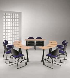 DELFI 080, Stuhl mit Kufen aus Metall, Sitz in Polymer