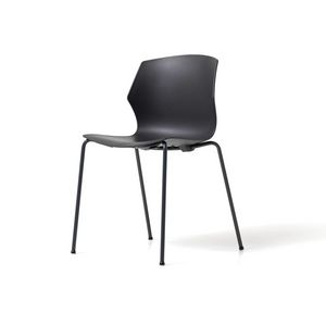 No Frill 4 Beine, Stapelbarer Stuhl, mit Polypropylen-Schale, auffälliges Design