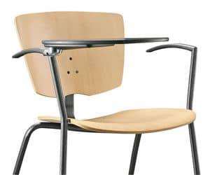 VEKTA 102 TDX, Stuhl mit Metallrahmen, Schreibplatte