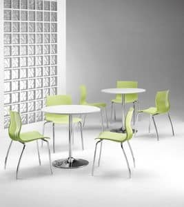 WEBBY 333, Stuhl mit Metallrahmen, Kunststoff-Schale