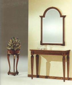 2555 CONSOLLE, Luxus klassische Konsole, in Massivholz Hand geschnitzt