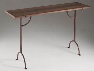 Consolle Filicudi, Moderne Konsolen mit Steinplatte und Eisenkonstruktion