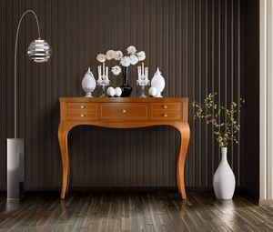 Elegant 5C Konsole, Holzkonsole mit 5 Schubladen