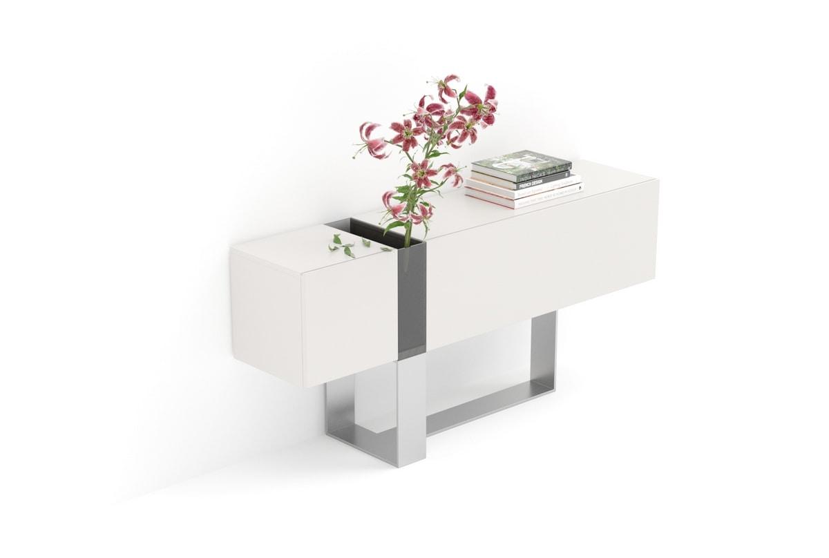 FLÒ comp.01, Konsole für Eingänge mit Kristall-Vase, für Villen