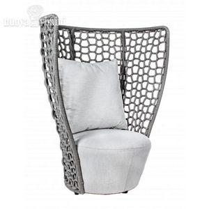 Sessel Kravitz, Wasserabweisender Sessel für den Außenbereich mit hoher Rückenlehne