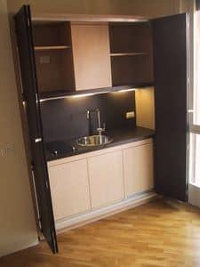 LINEA OFFICE, Kochnische für kleine Räume, funktional, kunden
