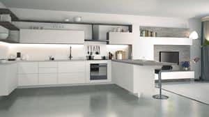 Ice, Weiß lackierte Küche, elegant und technologische