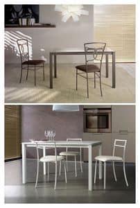 Orione Table, Esstisch mit Glasplatte