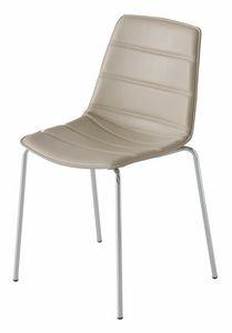 Alhambra NA, Stuhl mit Metallgestell, mehrfarbige Polymerhülle