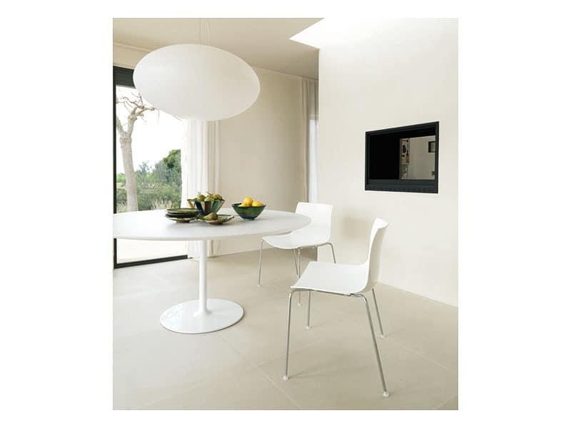 Catifa 53 0201, Formal Metallstuhl für Restaurant-Design