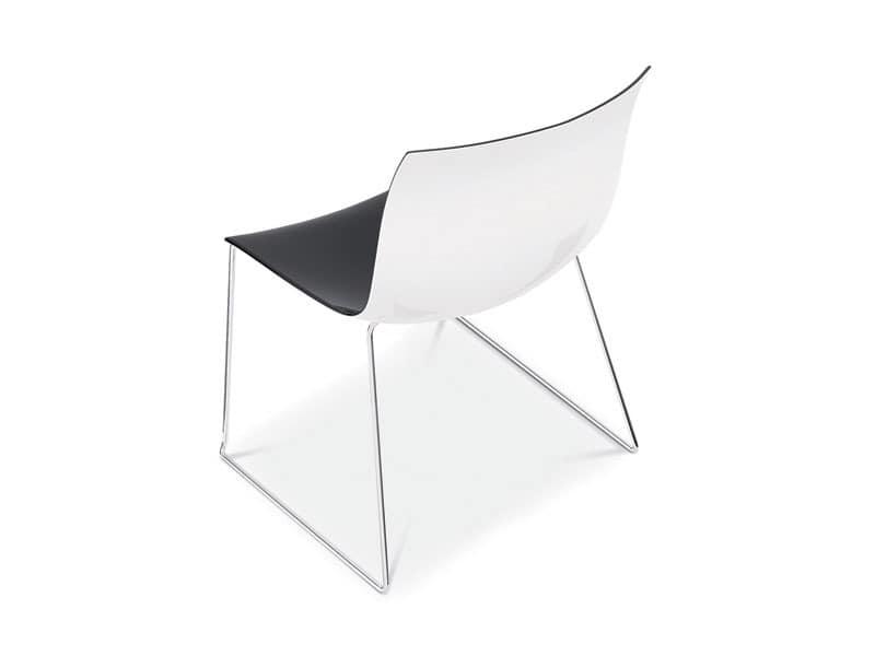 Catifa 53 sled, Designer Stuhl mit Metall Kufen, doppelte Farbe Sitz