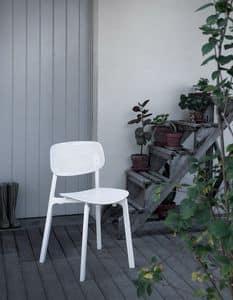 Colander, Stapelbarer Stuhl aus Polypropylen und Aluminium, für außen