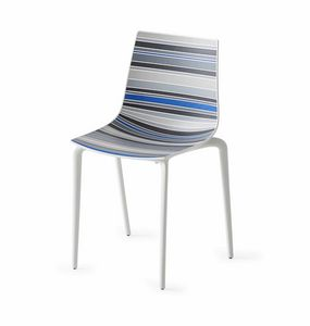Colorfive TP, Polymer Stuhl, Metall Beine, verschiedene Oberflächen