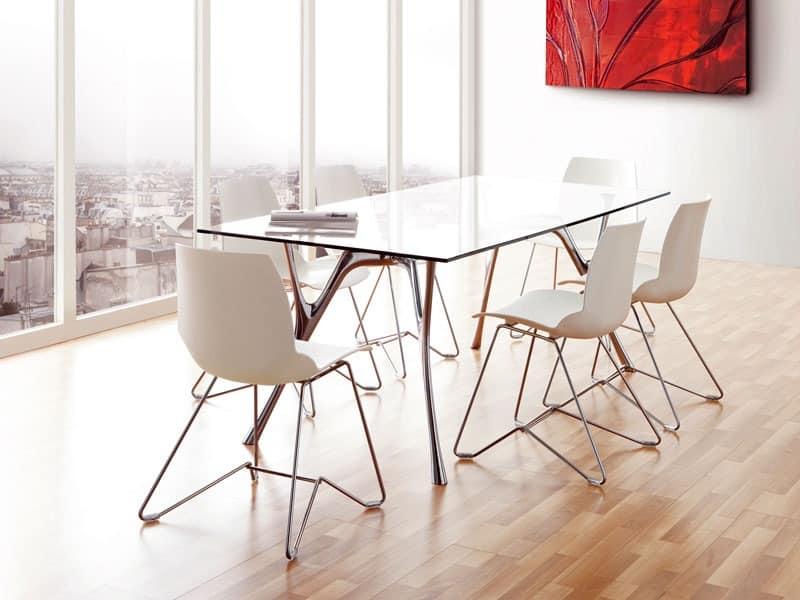 Kaleidos 5, Metallstuhl mit Polymerhülle, für den Objektbereich