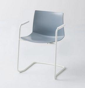 Kanvas 2 CTLS, Verchromter Stuhl mit Armlehnen